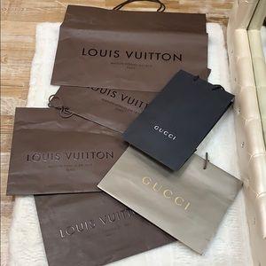 Louis Vuitton and Gucci Bundle Shopping  Bags